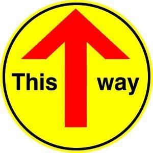 This Way Floor Sticker Sign (Pack Of 2)