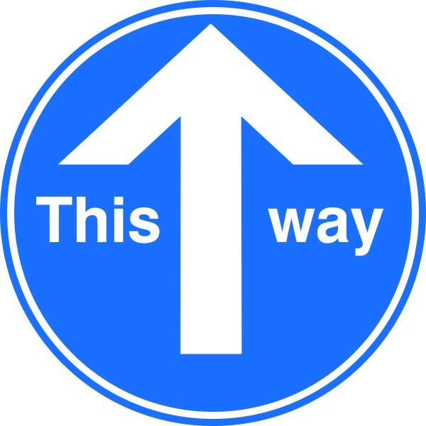 This Way Covid-19 Signs