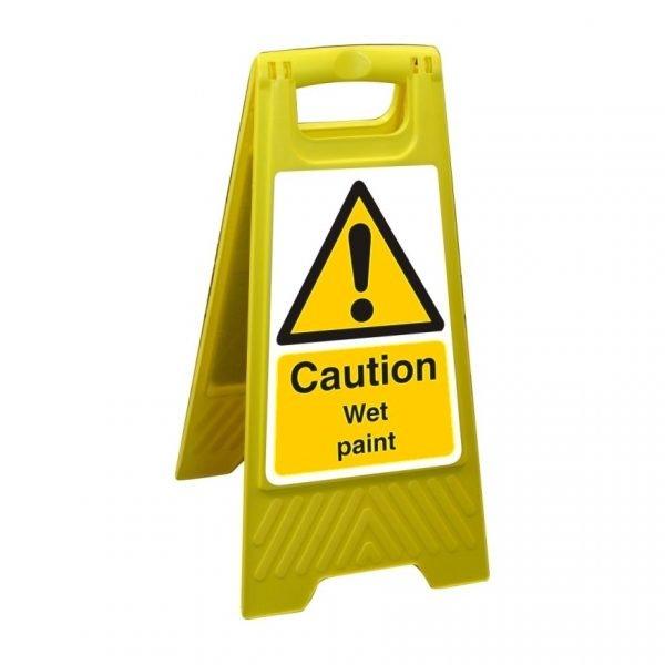 Caution Wet Paint Free Standing Floor Sign