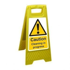Caution Cleaning In Progress Free Standing Floor Sign