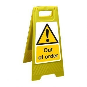 Out Of Order Free Standing Floor Sign