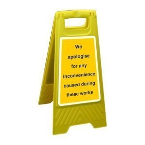 We Apologise For Any Inconvenience Caused During These Works Free Standing Floor Sign