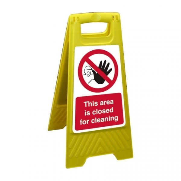This Area Is Closed For Cleaning Free Standing Floor Sign