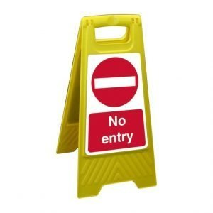No Entry Free Standing Floor Sign