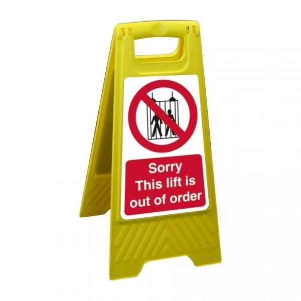 Sorry This Lift Is Out Of Order Free Standing Floor Sign