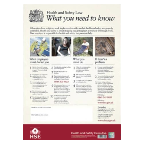 Health & Safety at Work Act 1989 – The Health and Safety Poster