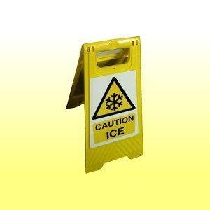 Caution Ice Free Standing Floor Sign