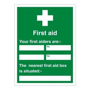 First Aid Information Sign