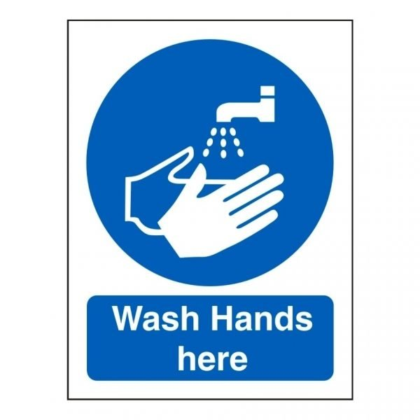 Wash Hands Here Sign