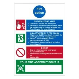 Fire Action Your Fire Assembly Point Is Sign