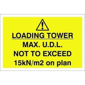 Danger Loading Tower Max Sign