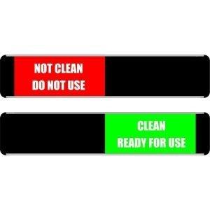 Cleaned Not Clean Sliding Door Sign