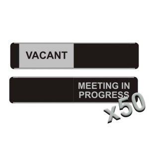 Vacant Meeting In Progress Sliding Door Signs x50
