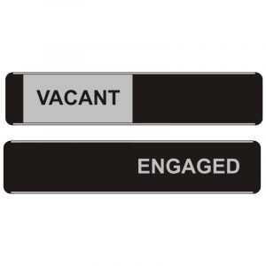 Vacant Engaged Sliding Door Sign