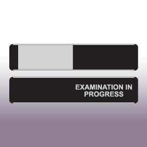 Examination in Progress Sliding Door Sign