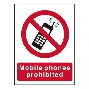 Mobile Phones Prohibited Sign
