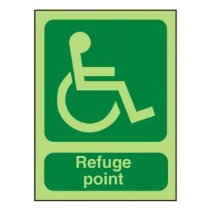 Disabled Refuge Point Photoluminescent Sign