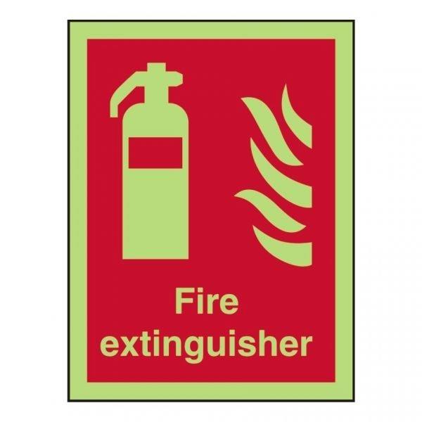 Fire Extinguisher Photoluminescent Sign