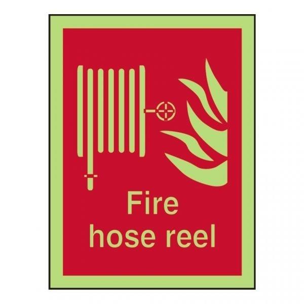 Fire Hose Reel Photoluminescent Sign