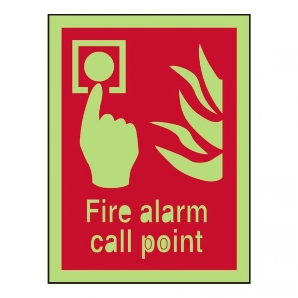 Fire Alarm Call Point Photoluminescent Sign