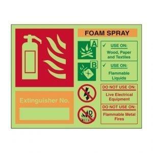Extinguisher No Carbon Dioxide Photoluminescent Sign