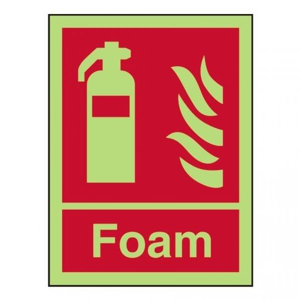 Fire Extinguisher Foam Photoluminescent Sign