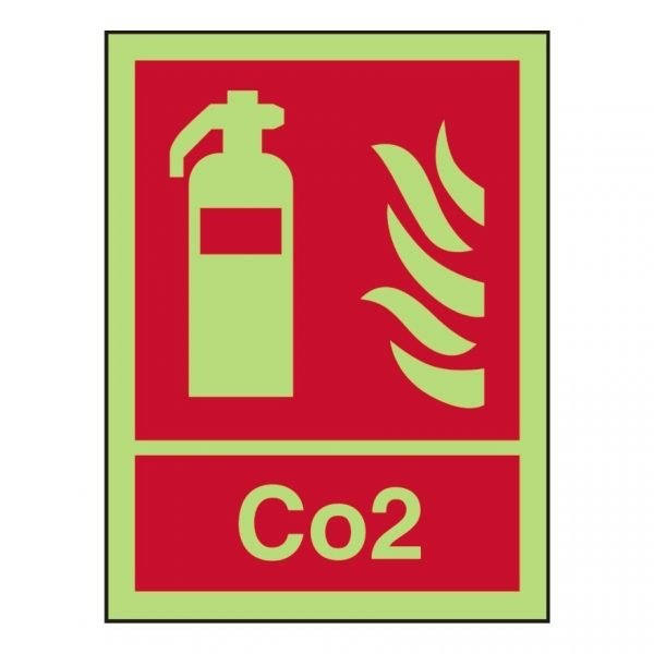 Fire Extinguisher Carbon Dioxide Photoluminescent Sign