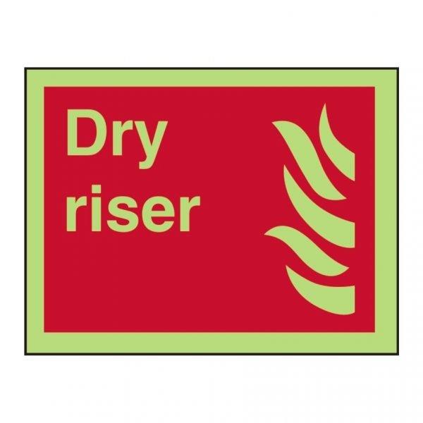Dry Riser Photoluminescent Sign