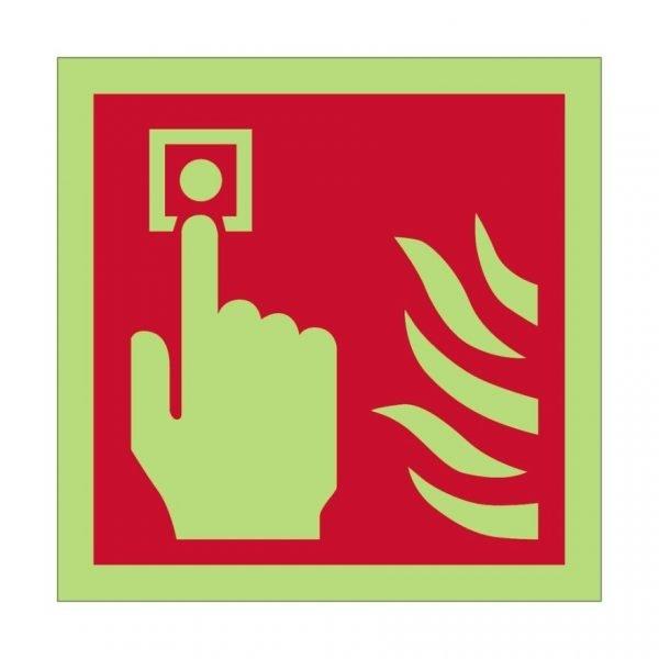 Photoluminescent Fire Alarm Point Sign