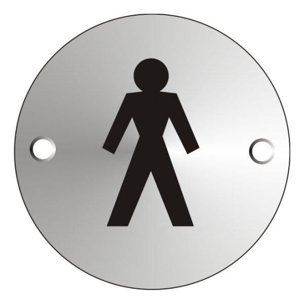 Gentlemens Satin Anodised Sign