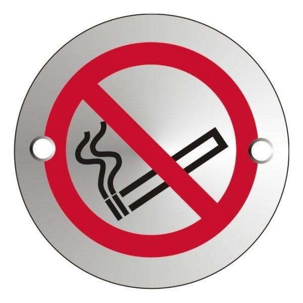 No Smoking Satin Anodised Office Door Sign
