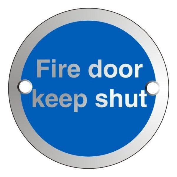 Fire Door Keep Shut Satin Anodised Office Door Sign