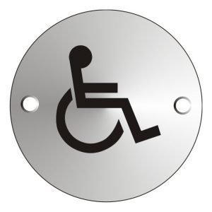 Disabled Satin Anodised Sign