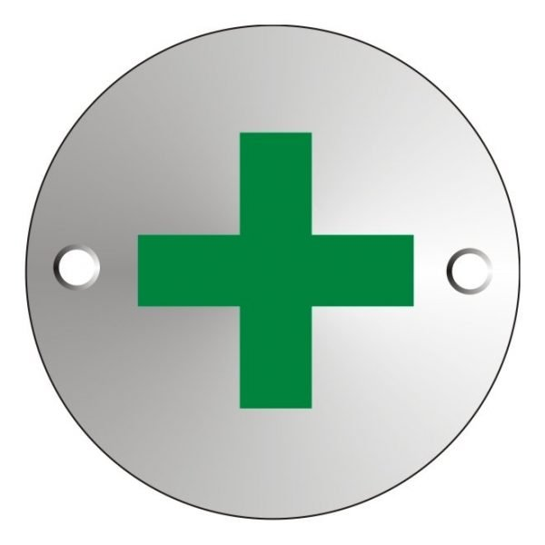 First Aid Satin Anodised Office Door Sign