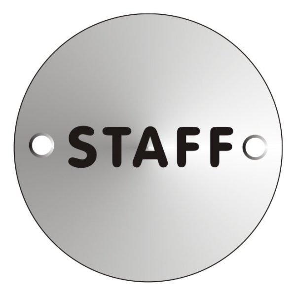 Staff Satin Anodised Office Door Sign