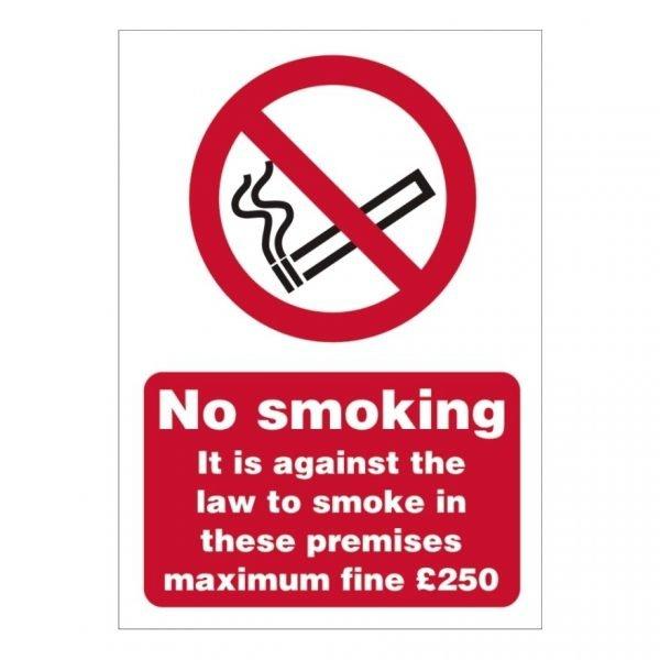 No Smoking Maximum Fine Sign