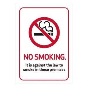 No Smoking Law Sign
