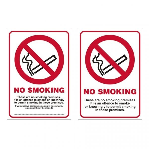 Double Sided No Smoking Sign