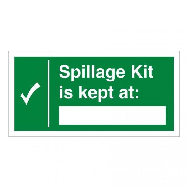 Spillage Kit Is Kept At Sign