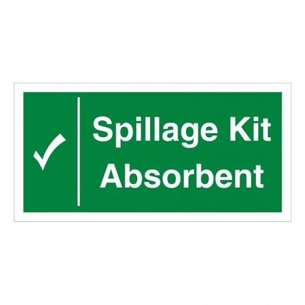 Spillage Kit Absorbent Sign