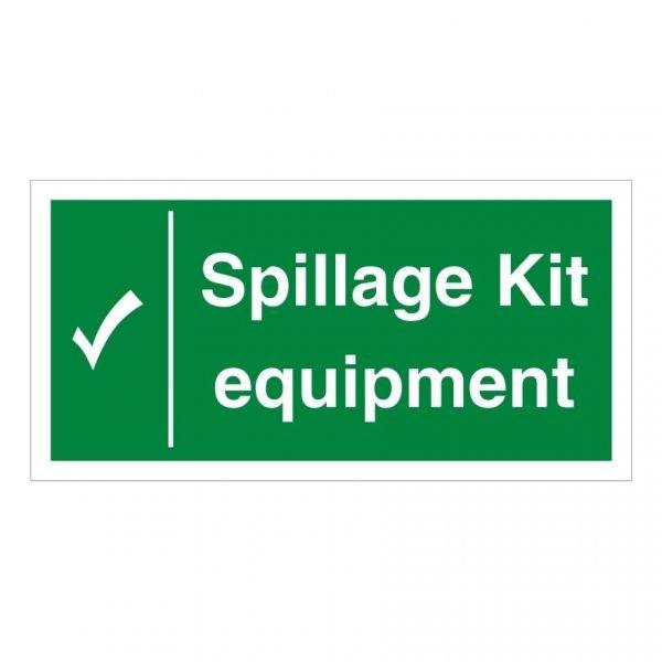 Spillage Kit Equipment Sign