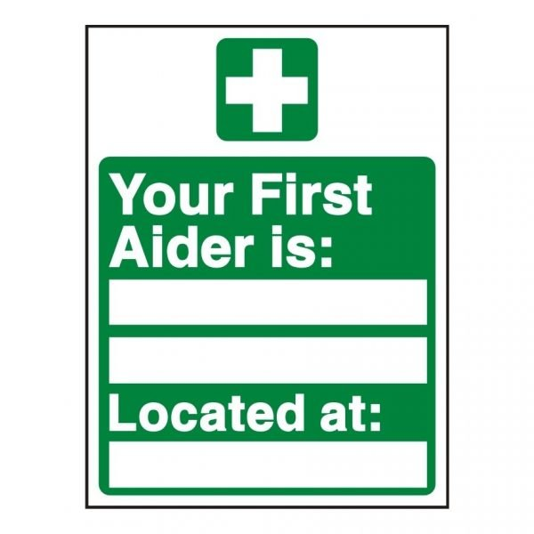 Your First Aider Details Sign