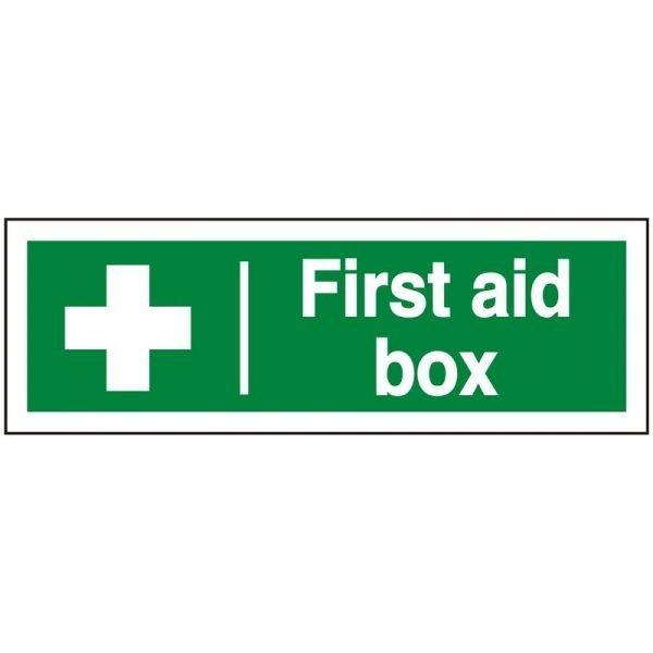 First Aid Box Sign