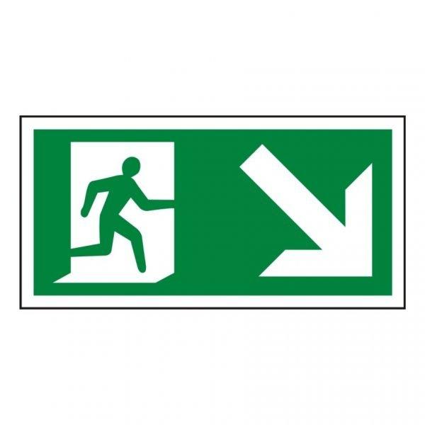 Running Man Arrow Down Right Sign