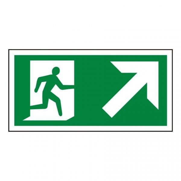 Running Man Arrow Up Right Sign