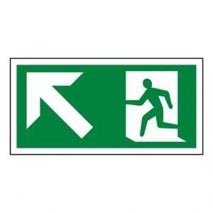 Running Man Arrow Up Left Sign