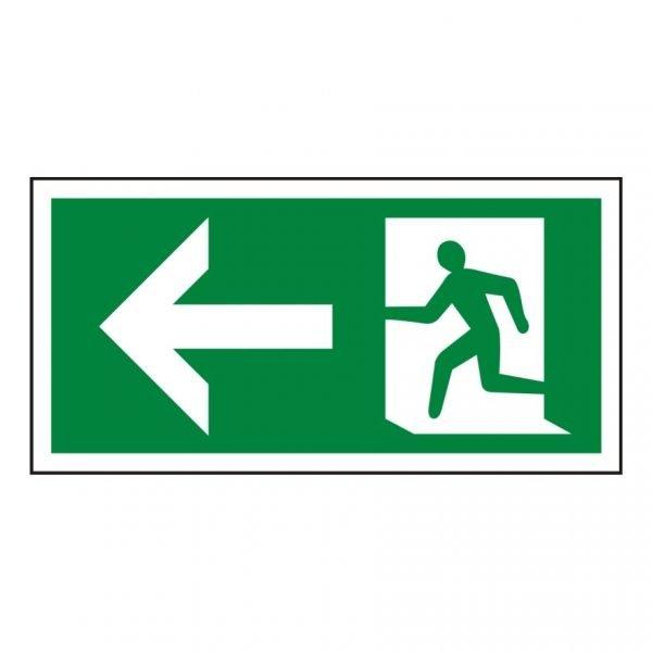 Running Man Arrow Left Sign