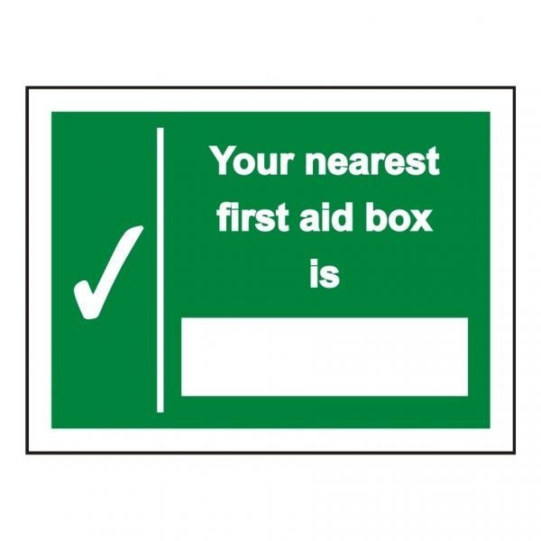 Your Nearest First Aid Box Sign