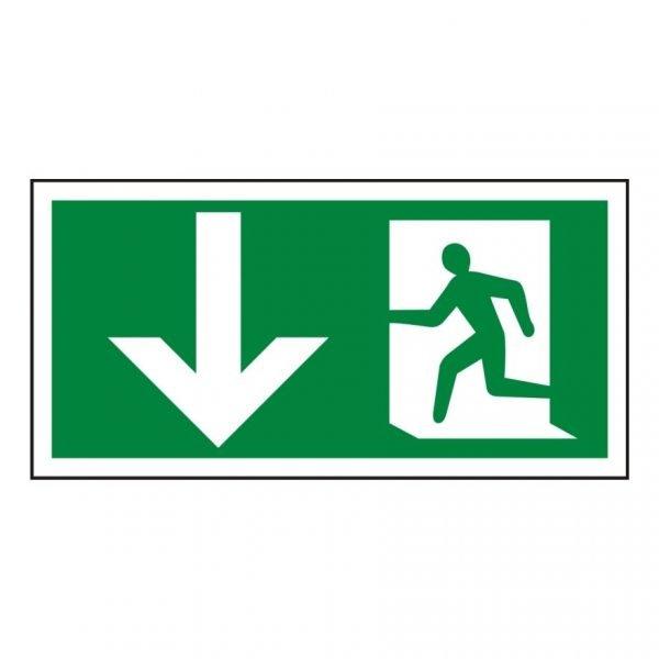 Running Man Arrow Down Sign