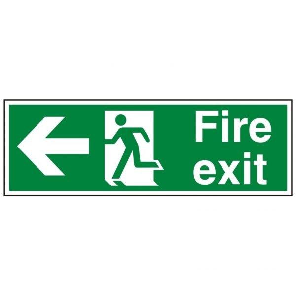 Fire Exit Running Man Arrow Left Sign